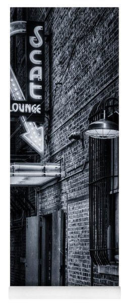 Scat Lounge In Cool Black And White Yoga Mat