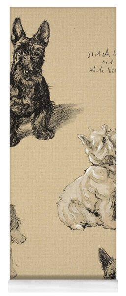 Scotch Terrier And White Westie Yoga Mat