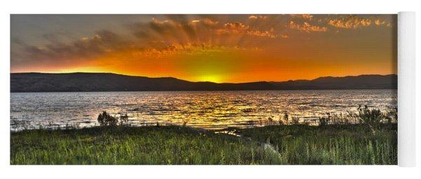 Sea Of Galilee Sunset Yoga Mat