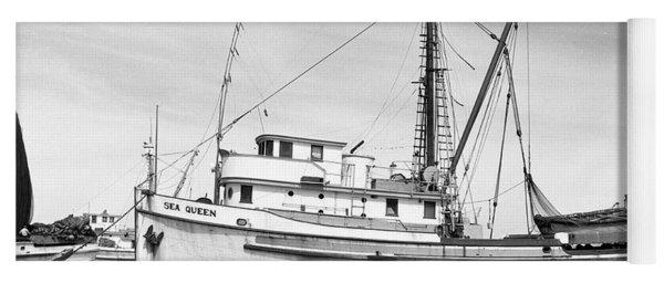 Purse Seiner Sea Queen Monterey Harbor California Fishing Boat Purse Seiner Yoga Mat