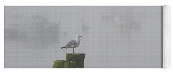 Seagull On A Foggy Morning Yoga Mat