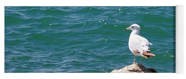 Seagull On Rock Yoga Mat