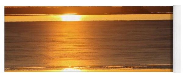 Seagull Through Sunset Yoga Mat