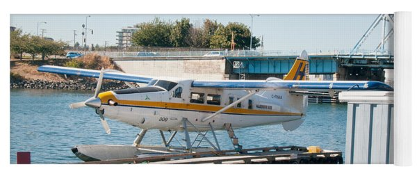Seaplane In Victoria Harbour Yoga Mat