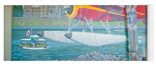 Seaplane Mural Yoga Mat