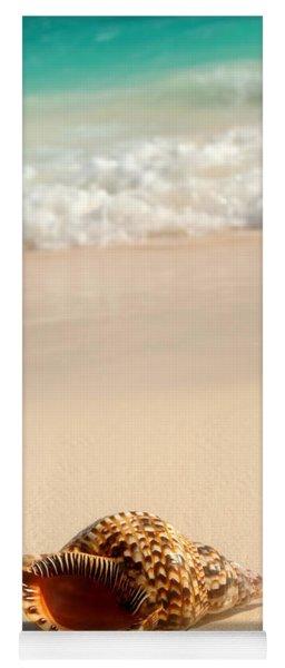 Seashell And Ocean Wave Yoga Mat
