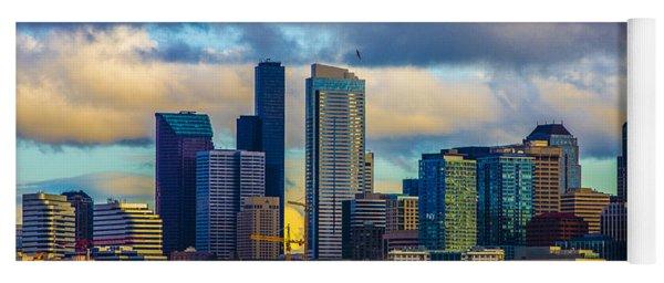 Seattle Cityscape Yoga Mat