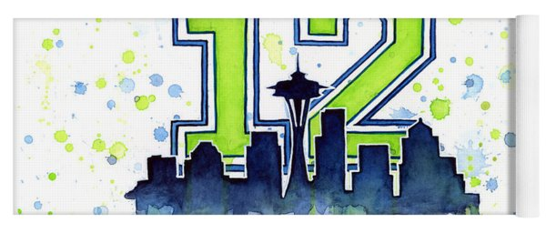 Seattle Seahawks 12th Man Art Yoga Mat