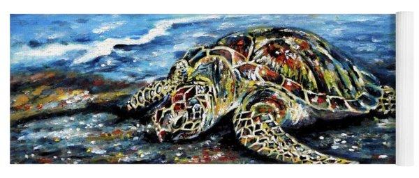 See Weed Turtle Yoga Mat