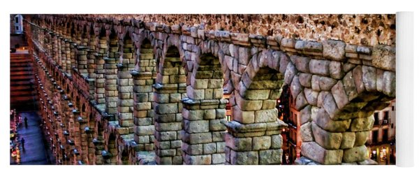 Segovia Aqueduct Spain By Diana Sainz Yoga Mat