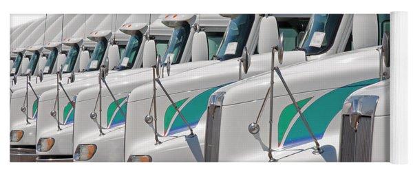 Semi Truck Fleet Yoga Mat