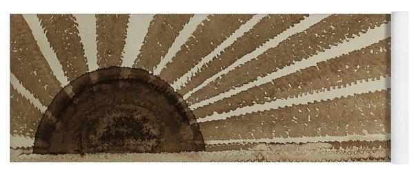 Sepia Sunset Original Painting Yoga Mat