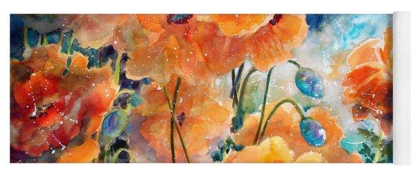 September Orange Poppies            Yoga Mat