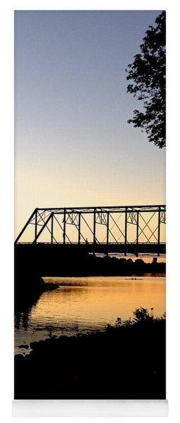 September Sunset On The River Yoga Mat