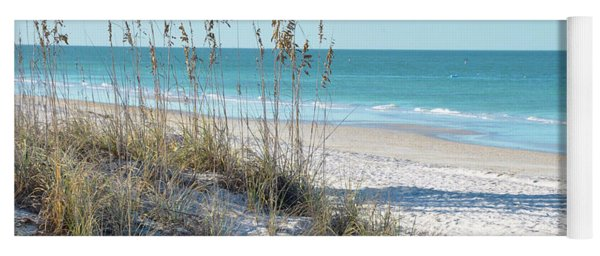Serene Florida Beach Scene Yoga Mat