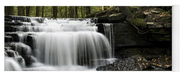 Serenity Waterfalls Landscape Yoga Mat