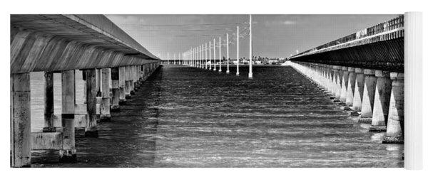 seven mile bridge BW Yoga Mat
