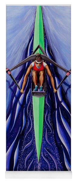 She Scull By O4rsom. Rowing Sport Of Champions Yoga Mat