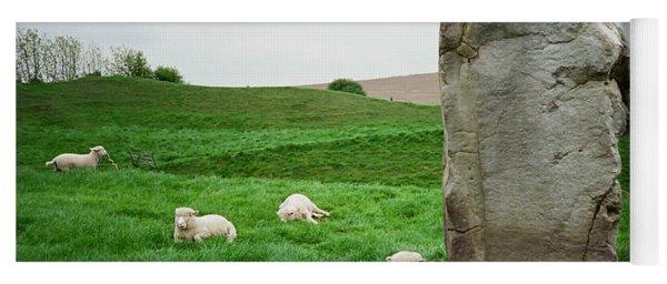 Sheep At Avebury Stones - Original Yoga Mat