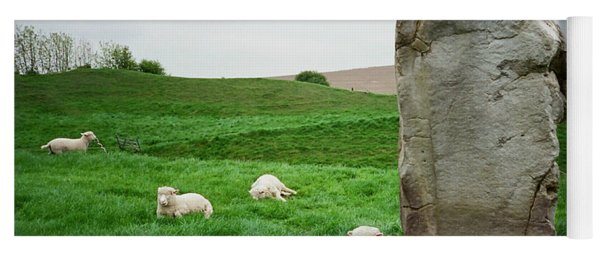 Sheep At Avebury Stones - Original Yoga Mat