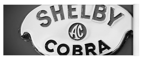 Shelby Ac Cobra Emblem -0282bw Yoga Mat