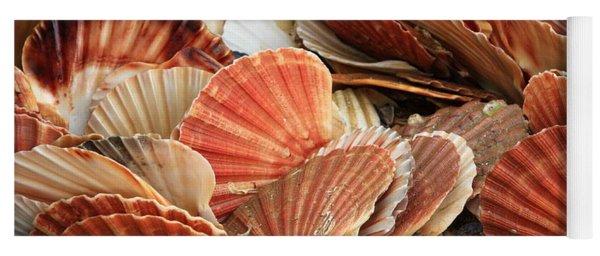 Shells On The Shore Yoga Mat