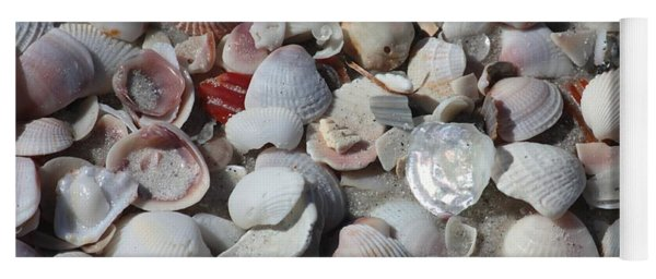 Shells On Treasure Island Yoga Mat
