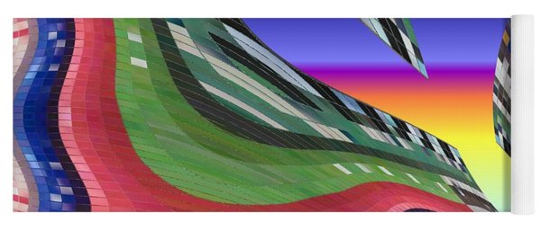 She's Leaving Home Abstract Yoga Mat