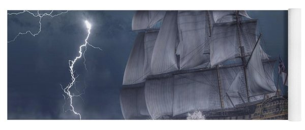 Ship In A Storm Yoga Mat