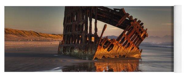 Shipwreck At Sunset Yoga Mat