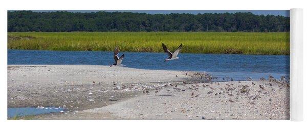 Shorebirds And Marsh Grass Yoga Mat