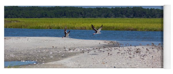 Shorebirds And Marsh Grass Yoga Mat