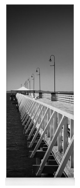 Shorncliffe Pier In Monochrome Yoga Mat