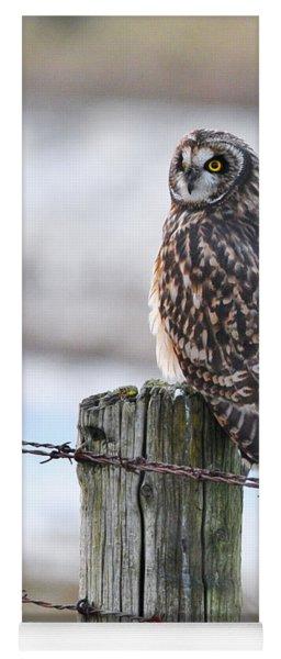 Short Eared Owl Yoga Mat