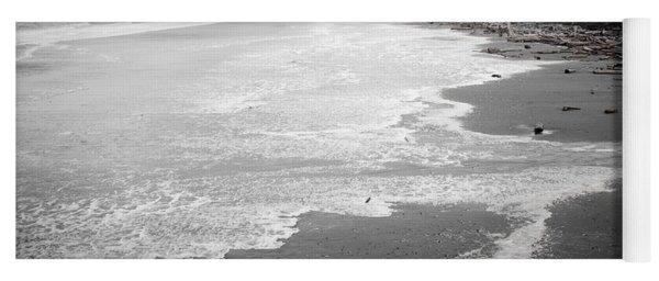 Winter At Wickaninnish Beach Yoga Mat