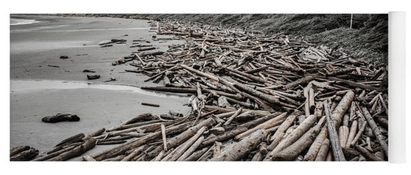 Shoved Ashore Driftwood  Yoga Mat