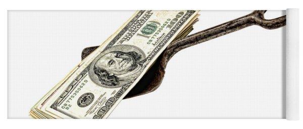 Shovel Of Dollar Yoga Mat
