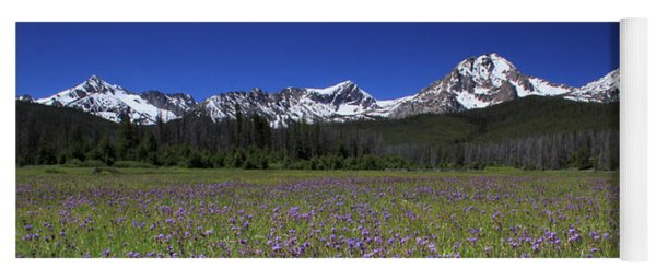 Showy Penstemon Wildflowers Sawtooth Mountains Yoga Mat