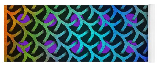 Shreaded Patterns And Textures Yoga Mat