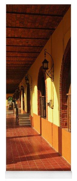Sidewalk In Tlaquepaque District Of Guadalajara Yoga Mat
