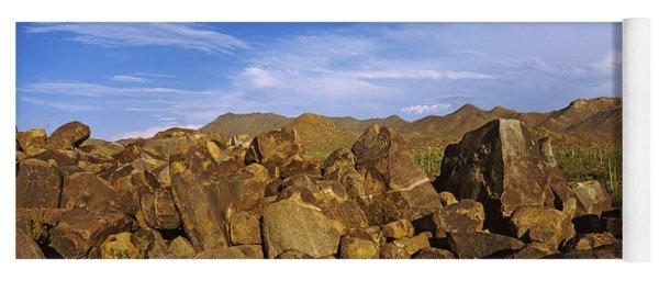 Signal Hill With Petroglyphs, Saguaro Yoga Mat