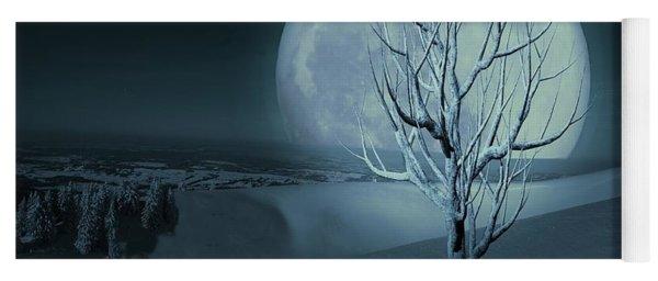 Yoga Mat featuring the digital art Silent Winter Evening  by David Dehner