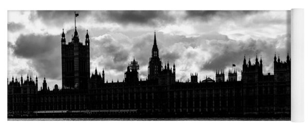 Silhouette Of  Palace Of Westminster And The Big Ben Yoga Mat