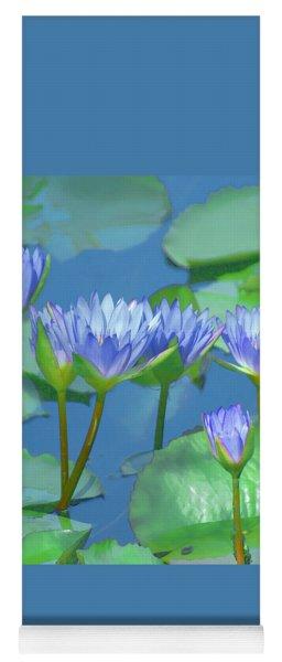 Silken Lilies Yoga Mat