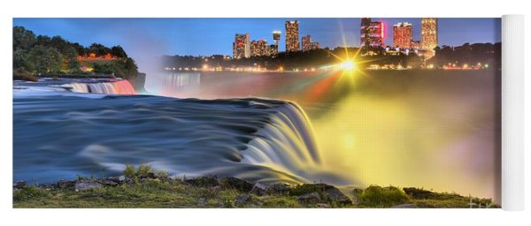 Silky Niagara Falls Panoramic Sunset Yoga Mat