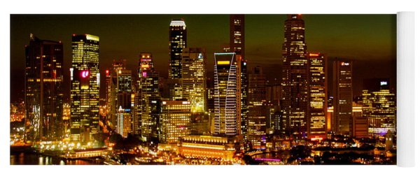 Singapore Skyline Yoga Mat