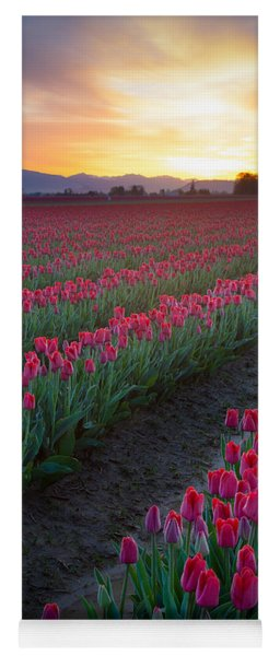 Skagit Valley Blazing Sunrise Yoga Mat