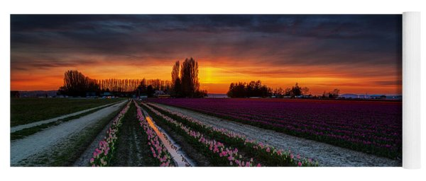 Skagit Valley Dusk Colors Yoga Mat
