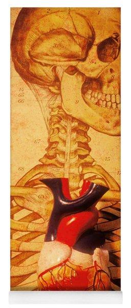 Skeleton And Heart Model Yoga Mat