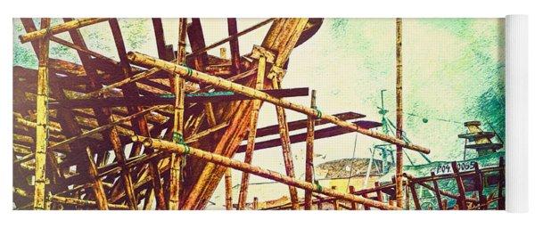 Skeletons In The Yard - Boatbuilding In Ecuador Yoga Mat